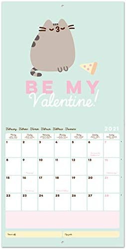 12 mesi include poster regalo calendario 2021 gatti Grupo Erik CP21033 Calendario 2021 da Muro Pusheen Foodie Collection 30x30 cm