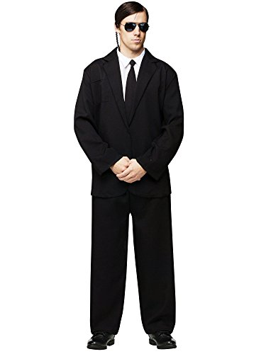 White Black Men For Costume And Ideas (FunWorld Men's Black Suit Complete, Black/White, One Size)