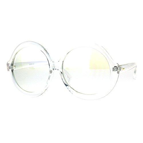 Womens Mod Retro Thick Plastic Round Circle Lens Vintage Eye Glasses - Round Glasses Thick