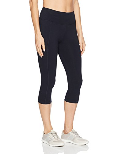 Marika Cotton Pants - Marika Women's Carrie Slimming Capri Leggings, Midnight Blue, Small