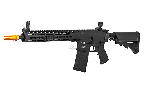 Aeg Classic Army (Classic Army Airsoft GI Black Skirmish ECS KM12 M4 Carbine AEG, 330-350 FPS Muzzle Velocity – Holds 300-Round Magazine)