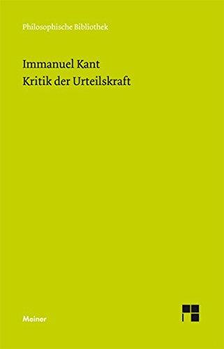 Kritik Der Urteilskraft  Beilage  Erste Einleitung In Die Kritik Der Urteilskraft  Philosophische Bibliothek