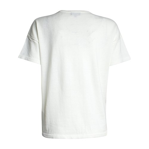 Broadway Damen Oversized T-Shirt Belanna von Farbe Weiß Pailletten-Motiv
