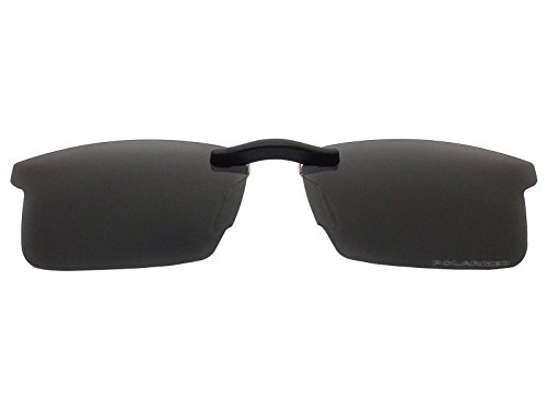 Custom Fit Polarized CLIP-ON Sunglasses For Ray-Ban RB8411 54X17 Black (Ray Ban Clip On Sunglasses)