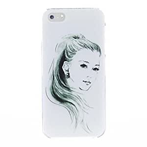 Kinston Sketch The Young Gir Plastic Hard Case for iPhone 5/5S