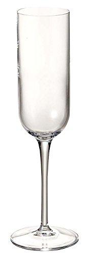 Luigi Bormioli 11559/01 Sublime 7 oz Champagne Flute Glasses, Set of 4, Clear