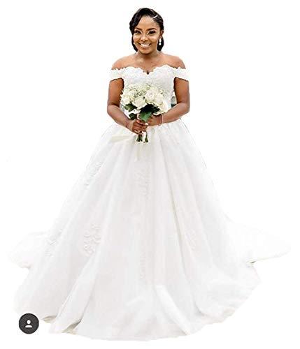 - Princess Off The Shoulder Wedding Dresses Bridal Ball Gown 2019 Lace Applique Wedding Dresses for Bride 2019 White 16