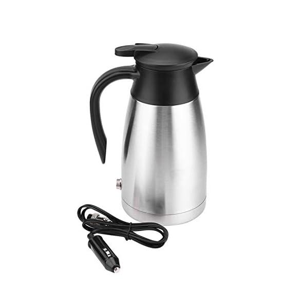 31ytK2abV5L Wasserkocher 1000ML Auto LKW 12V/24V Wasserkocher Edelstahl Elektrische Heizung Wasserflasche Schnell kochendes Wasser…