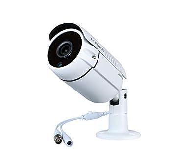 Eversecu 1080P 2.0MP HD CMOS Sensor AHD/TVI/CVI/960H Bullet Analog Camera, 2MP Full HD Weatherproof CCTV Security Camera for Outdoor Surveillance (3.6 mm Lens, Metal, White) by EVERSECU