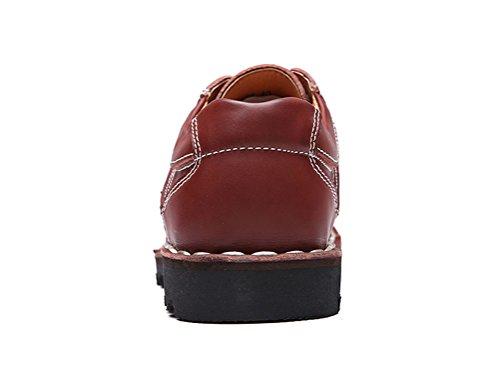 Guciheaven Klassiska Mens Sko Läder Mode Vilda Halkfritt Arbete Sko Rödvin Röda