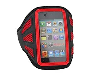 Warterproof Lint and Plastic Armband Skin Cover/Case for Apple iPod Touch 4th (Red)