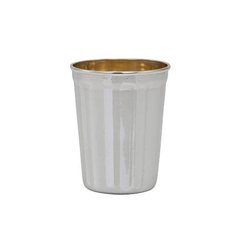 Hazorfim Cobalt Smooth Riviis Cup Sterling silver 925 kiddush cup saucer plate wine shabbat Shabbos bar mitzva wedding gift handmade Israel Judaica hatzorfim by Hazorfim (Image #1)