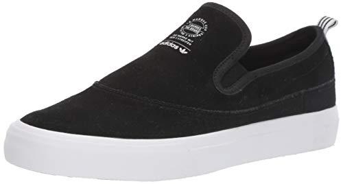 adidas Originals Men's Matchcourt Slip Sneaker, Black/White/Gum, 8.5 M US