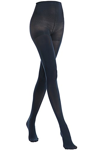 Spandex Opaque Pantyhose (Stocking Fox Women's 70-Denier Opaque Stretch Tight Small Navyblue)