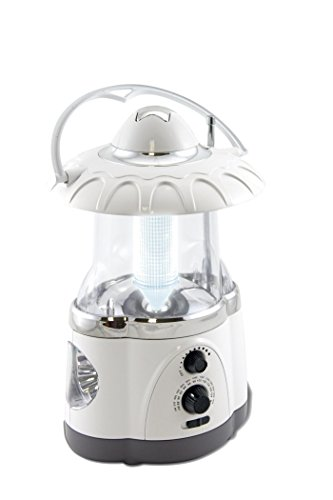 Radio Lamp - Multifunctional Radio Lantern and Emergency Flashlight, Battery Operated, 12 Bright Lantern LED's and 4 Bright Flashlight LED's, Hurricane Lantern by Northpoint