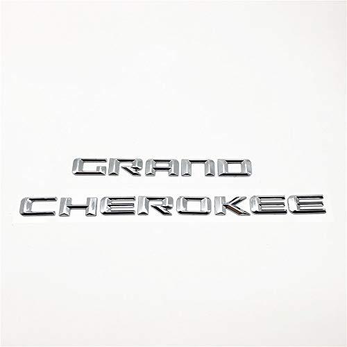 FT&C 2pcs Fit 2013-2016 Grand Cherokee Car Door ABS Chrome New Nameplate Custom 3D Letter Badge Emblem Stickers 68110321AC
