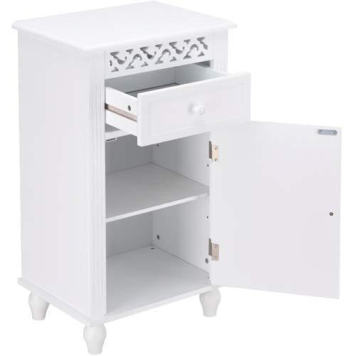 Pine Wall Cupboard (Diamondgift Storage Cabinet Small for Bathroom Organizer Drawer Wooden Cupboard Night Stand)