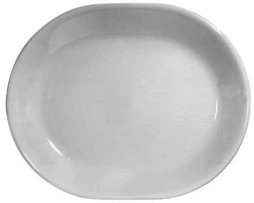 Corelle Livingware 12-1/4-Inch Serving Platter, Winter Frost - Platter Oval Design