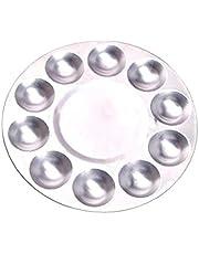10 Herramientas Rejilla De Aluminio Paleta Multi Función Ronda De Pintura Portátil Plato Herramientas Cerámica Metal Pintura Acuarela Pintura del Color del Plato De Accesorios