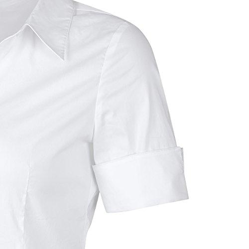 shirt shirt Sport Top manches Cintre Blanc Bouton Uni Femme Polo Elegance courtes piqu T Col 1 Polo SUNNOW Blanc Couleur OwB7FEqn