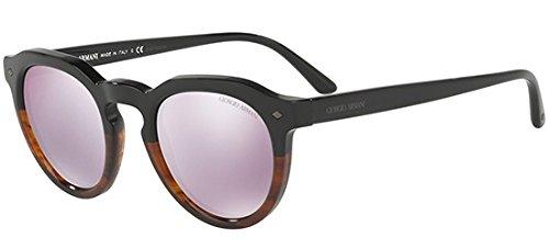 Giorgio Armani Women's 0AR8093 Bicolor Black/Striped Brown/Grey Mirror Lilac One Size