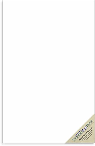 25 Bright White Smooth 80# Card Paper Sheets - 11