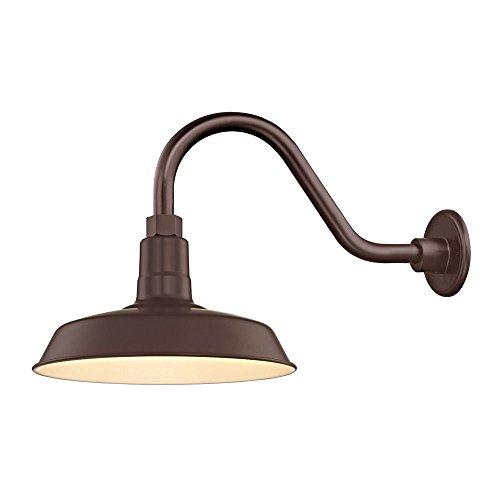 - Bronze Gooseneck Barn Light with 12
