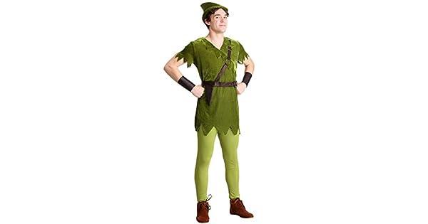 Amazon.com: Disfraz de Peter Pan clásico para hombre de ...