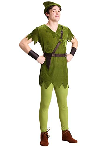 Plus Size Men's Classic Peter Pan Costume 2X Green]()