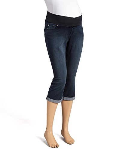 Sass & Sassy Women's Plus Size Capri Crop Straight Cuff Pull On Jeans (3X, Medium)