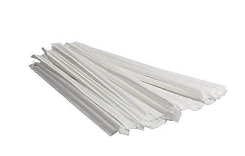"100 count 10"" Clear Giant Drinking Straw Wrapped, SMOOTHIE Straw"
