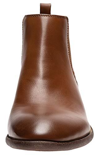 Pictures of JOUSEN Men's Chelsea Boots Elastic Formal Casual Chelsea Boots 10 M US 7