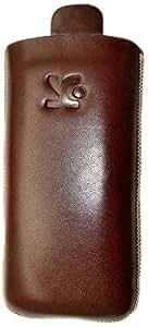 Suncase - Funda de cuero para Nokia C2-01, color marrón