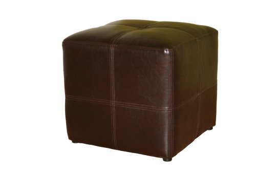 Baxton Studio Nox Brown Leather (Bonded Leather Cube)