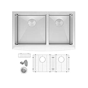 31ytjxo1sxL._SS300_ 75+ Beautiful Stainless Steel Farmhouse Sinks For 2020