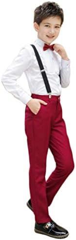 ボーイズ スーツセット 長袖シャツ ズボン 蝶ネクタイ サスペンダー 4点セット 男の子 フォーマルウェア セットアップ 紳士 結婚式 発表会 カジュアル
