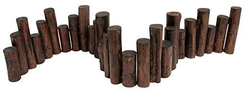 Teak Wood Uneven Top Solid Log Edging, (Log Garden Edging)