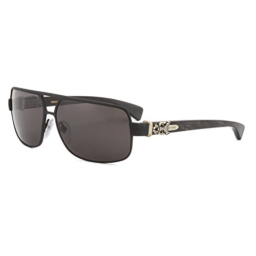 Chrome Hearts Tank Slapper Sunglasses Matte Black Shadow Buffalo Horn - Sunglasses Dagger Silver