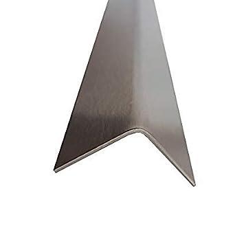 Edelstahl Eckenschutz 2500mm 70x30 mm K240 geschliffen V2A 0, 8mm stark L-Eckleiste Winkeleck, kreativ bauen 250cm Eckschutzschiene dekorative Winkelleiste Schenkel 7x3 cm Einheuser-Petzke Dustov GbR