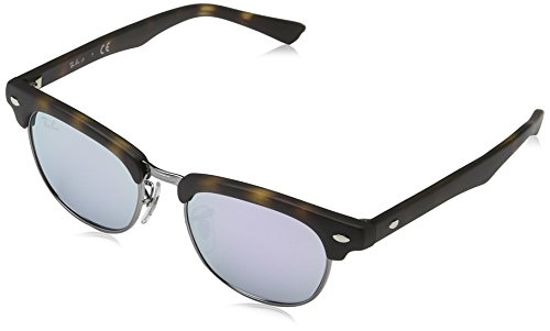Ray-Ban Jr. Kids Clubmaster Kids Sunglasses (RJ9050) Tortoise Matte/Purple Metal - Non-Polarized - - Tortoise Ray Matte Ban