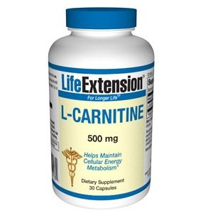 Life Extension L-carnitine 500 Mg Capsules, 30-Count