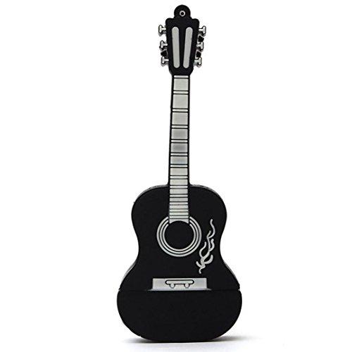 Zarupeng 1 GB / 2 GB / 4 GB / 8 GB / 16 GB / 32 GB USB 2.0 Estilo de metal Guitarra Memoria Almacenamiento Flash Thumb Stick U Disco (1 GB, ...