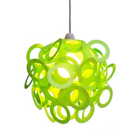Green Funky Loopy Lampshade: Amazon.co.uk: Lighting:Green Funky Loopy Lampshade,Lighting