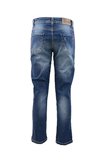 Boyfriend velluto bande Suerte Jeans di con fOq5WTwS