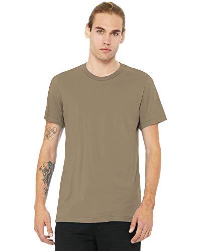 BellaCanvas Men's Jersey Short Sleeve Tee, Tan, -