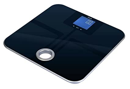 American Weigh Scales MSL 180 Mercury SL Black Glass Top Bathroom Scale  With ITO Sensors