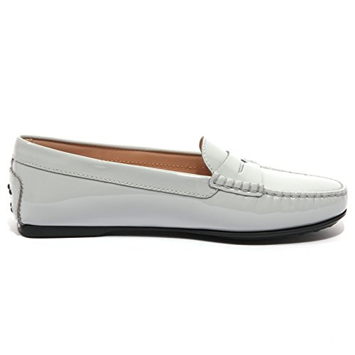 Tod's B1523 Women Mocassino Grigio Grigio Donna Loafer Scarpe Shoes Vernice r4rwqPH