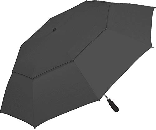 ShedRain Windjammer Vented Auto Open Jumbo Umbrella with Wood Grip