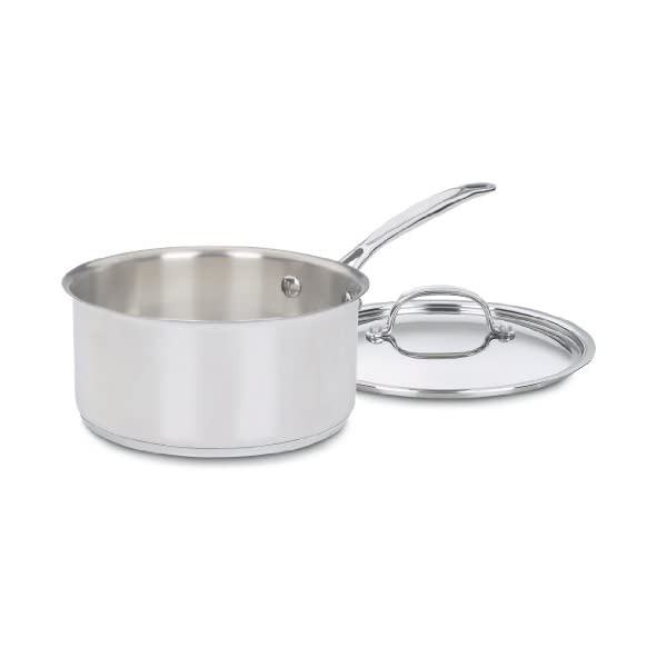 Cuisinart 77-7 Chef's Classic Stainless 7-Piece Cookware Set,Silver 4