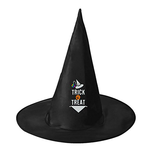 Tata Costume Box (Sweet Candy Original Unisex Adult women men Black Witch Hat Halloween Costume Accessory)
